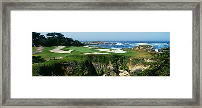 High Angle View Of A Golf Course Framed Print