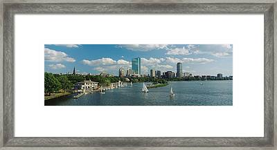 High Angle View Of A River, Charles Framed Print