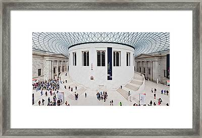 High Angle View Of People At British Framed Print