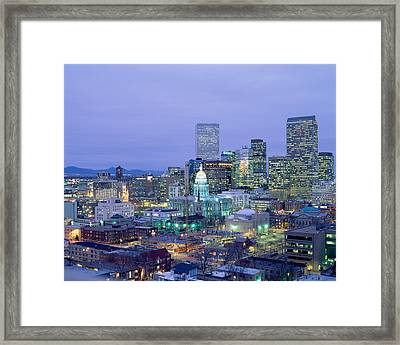 High Angle View Of The State Capitol Framed Print by Panoramic Images