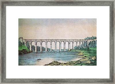 High Bridge, New York, 19th Century Framed Print by Photo Researchers