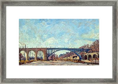 High Bridge Winter Light Nyc Framed Print by Thor Wickstrom
