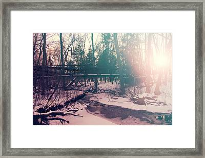 Framed Print featuring the photograph High Cliff Bridge by Joel Witmeyer
