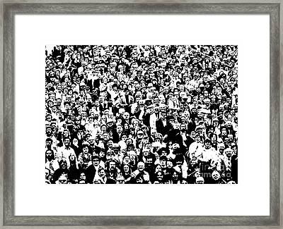 High Contrast Image Of Crowd, C.1970s Framed Print