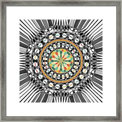 High Contrast Mandala Framed Print