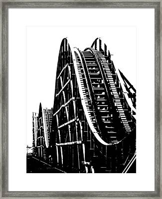 High Contrast Roller Coaster Framed Print