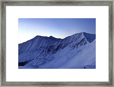 High Country Twilight Panorama - Triptych Left Framed Print by Mike Berenson