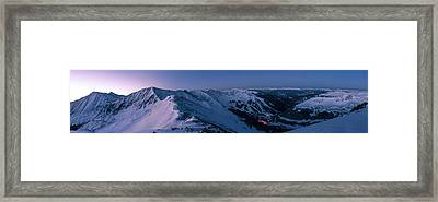 High Country Twilight Panorama Framed Print