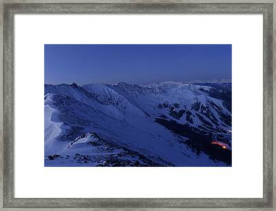 High Country Twilight Panorama - Triptych Center Framed Print
