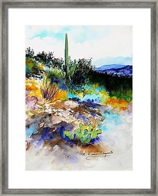 High Desert Scene Framed Print by M Diane Bonaparte