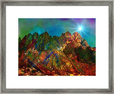 High Desert Colors Framed Print