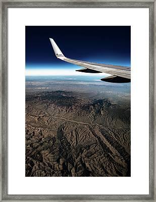 High Desert From High Above Framed Print
