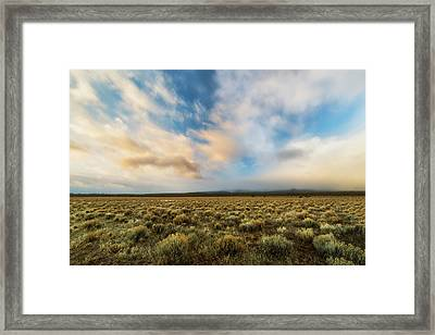 Framed Print featuring the photograph High Desert Morning by Ryan Manuel