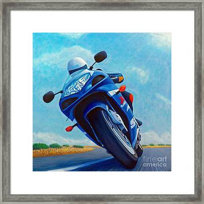 High Desert Pass - Suzuki Gsxr1000 Framed Print by Brian  Commerford