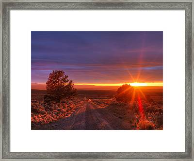 High Desert Road Framed Print