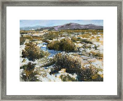 High Desert Winter Framed Print