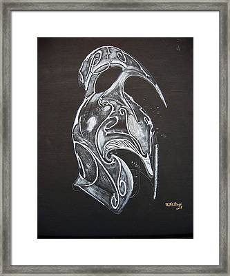High Elven Warrior Helmet Framed Print