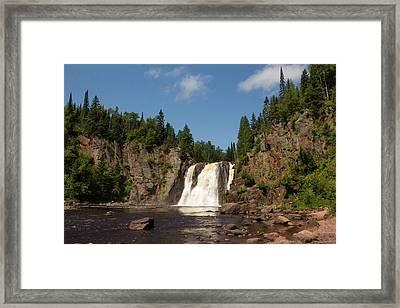 High Falls At Tettegouche State Park Framed Print