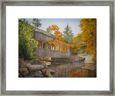 High Falls Bridge Framed Print