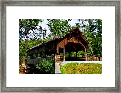 High Falls Covered Bridge Framed Print