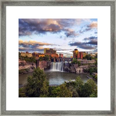 Framed Print featuring the photograph High Falls Crop by Mark Papke