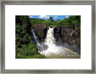 High Falls On Pigeon River Framed Print