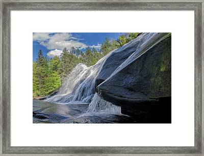 Framed Print featuring the photograph High Falls One by Steven Richardson