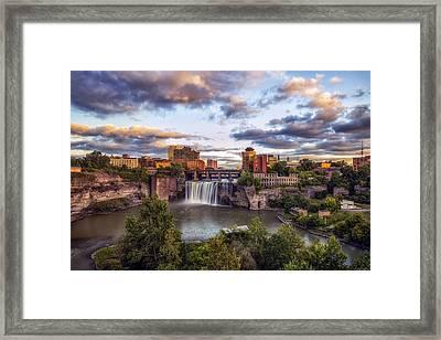 High Falls Rochester Framed Print