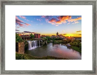 High Falls Rochester Ny Framed Print