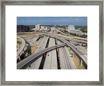 High Five Interchange, Dallas, Texas Framed Print by Jeff Attaway