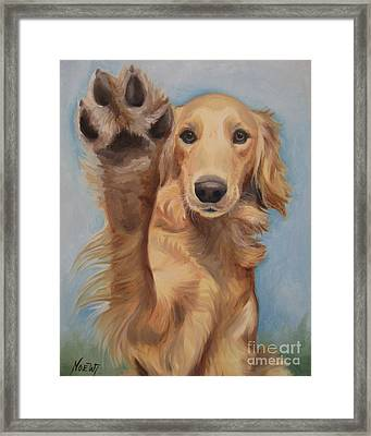 High Five Framed Print