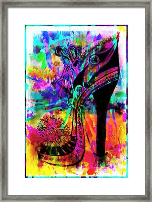 High Heel Heaven Abstract Framed Print by Jolanta Anna Karolska