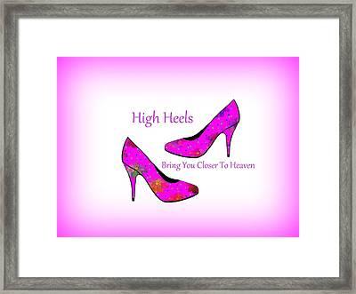 High Heel Heaven Framed Print