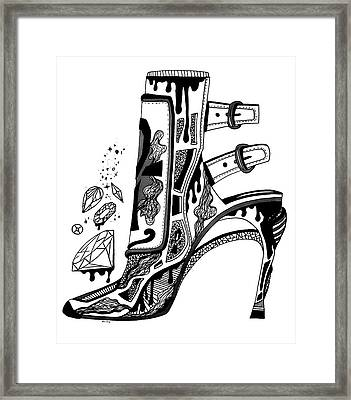 High Heels And Diamonds Framed Print by Kenal Louis