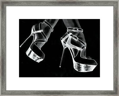 High Heels Framed Print
