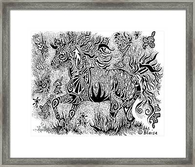 High Horse Framed Print
