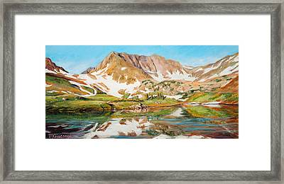 High In The Rockies Framed Print