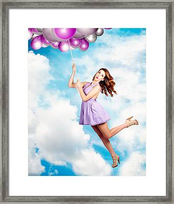 High In The Sky Birthday Party Celebration Framed Print by Jorgo Photography - Wall Art Gallery