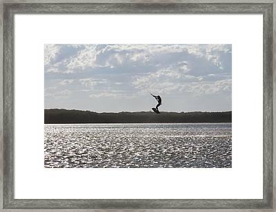 Framed Print featuring the photograph High Jump  by Miroslava Jurcik