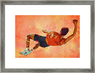 High Jumper Framed Print