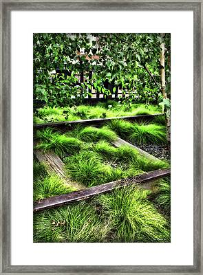 High Line Nyc Railroad Tracks Framed Print by Joan  Minchak
