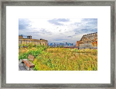 High Line On The Hudson Framed Print by Randy Aveille