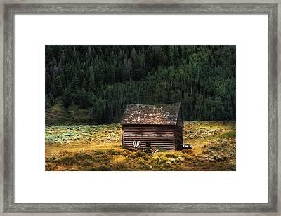High Lonesome - Colorado Barn Framed Print by Thomas Schoeller