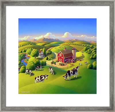 High Meadow Farm  Framed Print by Robin Moline