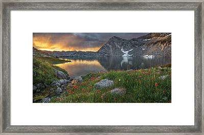 High Mountain Morning In Idaho Framed Print