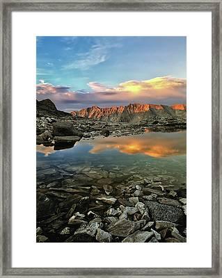 High Mountain Sunset Framed Print by Leland D Howard