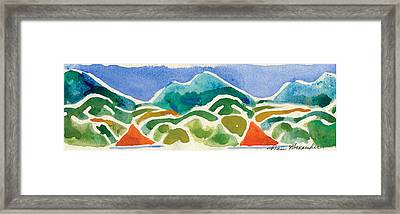 High Mountains And Meadows Framed Print by Annie Alexander