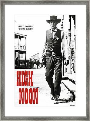 High Noon, Gary Cooper Framed Print by Thomas Pollart