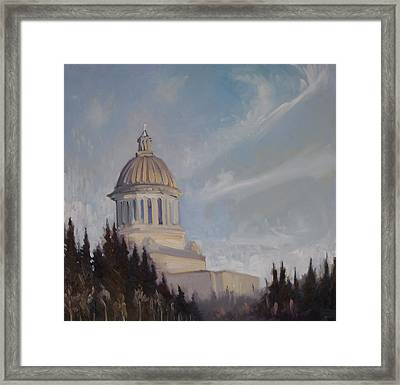 High On A Hill Framed Print by Gregg Caudell
