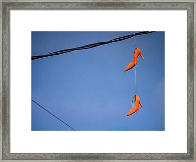 High On Orange Framed Print
